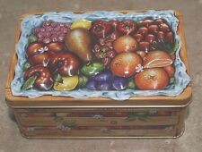 1-Metal Tin~For Storage-or Just to Set Out For Cuteness~Raised Design On The Lid