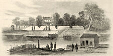 Port Royal Ferry South Carolina Antique Civil War Print Engraving 1862