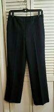 $129 Women's Ann Taylor 'Margo' Lined pants Black crepe Sz 6P NWT