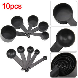 10pcs Plastic Measuring Cups and Spoons for Baking Tea Coffee Kitchen Tools |UK