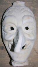 Holzmakse bzw. Hexenmaske selbst aus Holz mit Schnitzrohling schnitzen