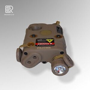ESSR Airsoft UK PEQ-15 LED Light Red Laser  - FDE Desert/Tan