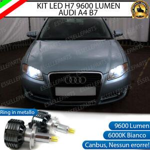 KIT LED H7 CANBUS AUDI A4 B7 + AVANT CON LED A 360° 9600 LUMEN 6000K BIANCO