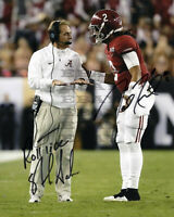 Nick Saban & Jalen Hurts Alabama Signed 8x10 autographed photo Reprint