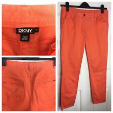 DKNY Orange Jeans Trousers Cotton Size 10