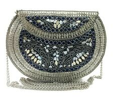 Indian bag silver party Ethnic Clutch Women gift antique ethnic Metal Bridal Bag