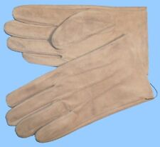 NEW MENS size 8.5 -medium TAN-BEIGE PIG SUEDE LEATHER UNLINED GLOVES shade10501