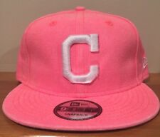 Cleveland Indians Pastel Neon Pick New Era 9Fifty Snapback Hat Cap Distressed