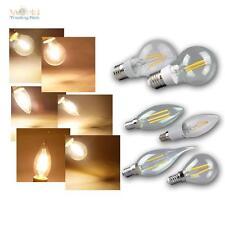LED Leuchtmittel Filament warmweiß Glühbirne Glühlampe Birne E 27 14 230V Birne
