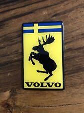 Magnetic 🧲 Genuine Discontinued Original Prancing Moose Volvo 3� Poly Decal