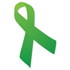 "Green Ribbon environmental car bumper sticker 3"" x 5"""