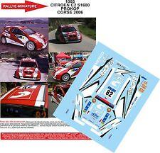 DÉCALS 1/43 réf 1085 CITROEN C2 S1600 PROKOP CORSE 2006