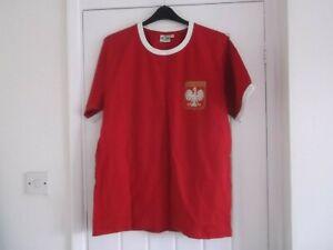 POLAND (Polska) HOME RETRO FOOTBALL SHIRT SIZE M( RE-TAKE Brand)