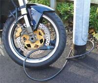 Mammouth Motorcycle Motorbike Cycle Bike Loop & U Cable Security Disc Lock 1.6M