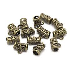 10 Bijoux Bélières Perles antique pour Bracelet bronze