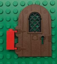 4624507 Brick 94161 5x LEGO NEW Reddish Brown Wood Door with hinges