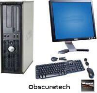 Fast Custom Dell Dual Core Computer PC 4GB DVD-RW Monitor Keyboard Mouse Win 10