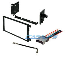 CAR STEREO RADIO DOUBLE DIN DASH INSTALLATION TRIM KIT W/ WIRE HARNESS & ANTENNA