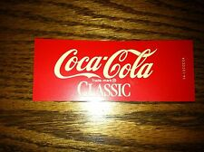 "Coca-Cola Classic Vending Machine Insert, Red, 4.5"" x 1.75"""