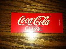 """Coca-Cola Classic Vending Machine Insert, Red, 4.5"""" x 1.75"""""""