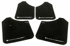 Rally Armor MF1-UR Mud Flaps Kit w/ WHITE Logo for 2002-2007 WRX STI RS 2.5i