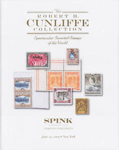 Inverted Center Stamps of the World, Cunliffe Collection, 2 volumes in slipcase