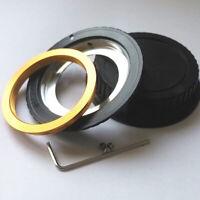 M42 Mount Lens To EOS For Canon EF Adapter Black 5D II III 6D 60D 70D 100D Cap