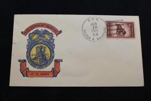 NAVAL COVER 1951 SHIP CANCEL NATIONAL DEFENSE USS GEO K MACKENZIE (DD-836) (2454