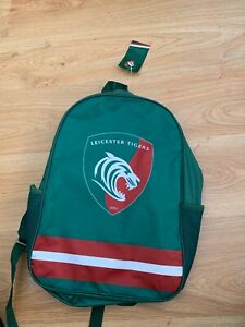 BNWT Official Leicester Tigers Rugby Merchandise Backpack / Bargain 99p start !!