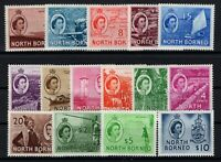 P131511/ NORTH BORNEO/ BRITISH COLONY / SG # 372 / 386 MH COMPLETE - CV 118 $