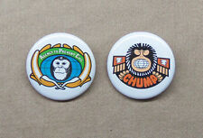 "Lancelot Link, Secret Chimp APE and CHUMP 2 Button Set 1.25"" Repro TV Spy Satire"