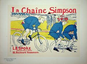 TOULOUSE-LAUTREC : Les cyclistes - Lithographie originale signée, 1900