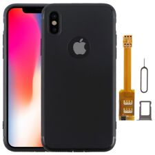 Kumishi Dual SIM Card Adapter+TPU Case for iPhone X, Dual Card Single Standby