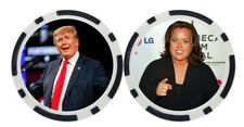 DONALD TRUMP / ROSIE O'DONNELL - POKER CHIP - BALL MARKER ***SIGNED***