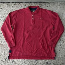 New listing Orvis Polo Shirt Adult Large Red Long Sleeve Premium Pique Fisherman Rugby Mens