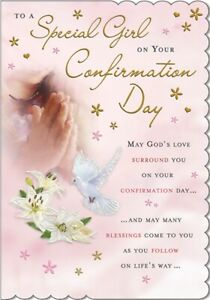 To A Special Girl On Your Confirmation Day Card