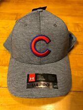 Under Armour Chicago Cubs Gray MLB Pro Snapback Hat NEW