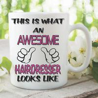 Novelty Mug Awesome Hairdresser Coffee Funny Gift Birthday Cup Work WSDMUG788