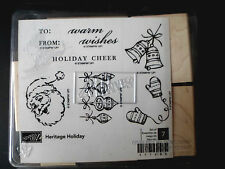 STAMPIN UP Heritage Holiday STAMPS SET New Christmas Santa Claus Cheer Warm Wish