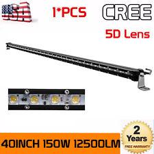 "Single Row 40inch 150W LED Work Light Bar 5D Lens for Jeep Truck SUV ATV 42/44"""