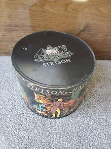 Vintage stetson hat box carriage victorian decor RARE case