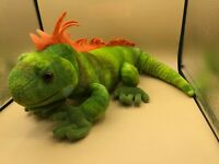 Wild Republic Iguana Green Lizard Plush Kids Soft Stuffed Animal Toy Doll 2012