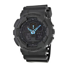 Casio G Shock Grey and Blue Dial Resin Mens Watch GA100C-8ACR