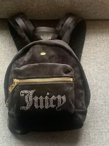 Juicy Couture Black Label Velvet Mini Backpack New with Tag