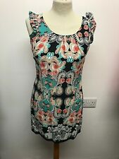 Dorothy Perkins Floral Multicoloured Mini Dress, Size 8, Petite