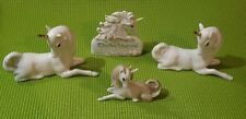 ENESCO Set Of 3 Unicorns / 1980s and 90's  with 4th mini unicorn(not Enesco)