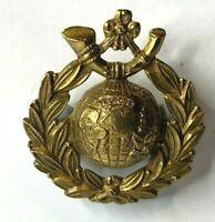 WW1 Royal Marines Light Infantry Cap Badge 2 Lugs