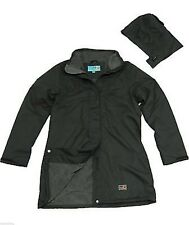 Womens Size 20 22 24 Fleece Lined Long Jacket Coat Black Plum Green *LICK*