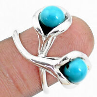black friday sale 4.71cts blue sleeping beauty turquoise ring size 5.5 p27187