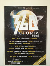 360 Utopia Australian Tour Poster 2014 A2 Falling & Flying PEZ BLISS N ESO *NEW*